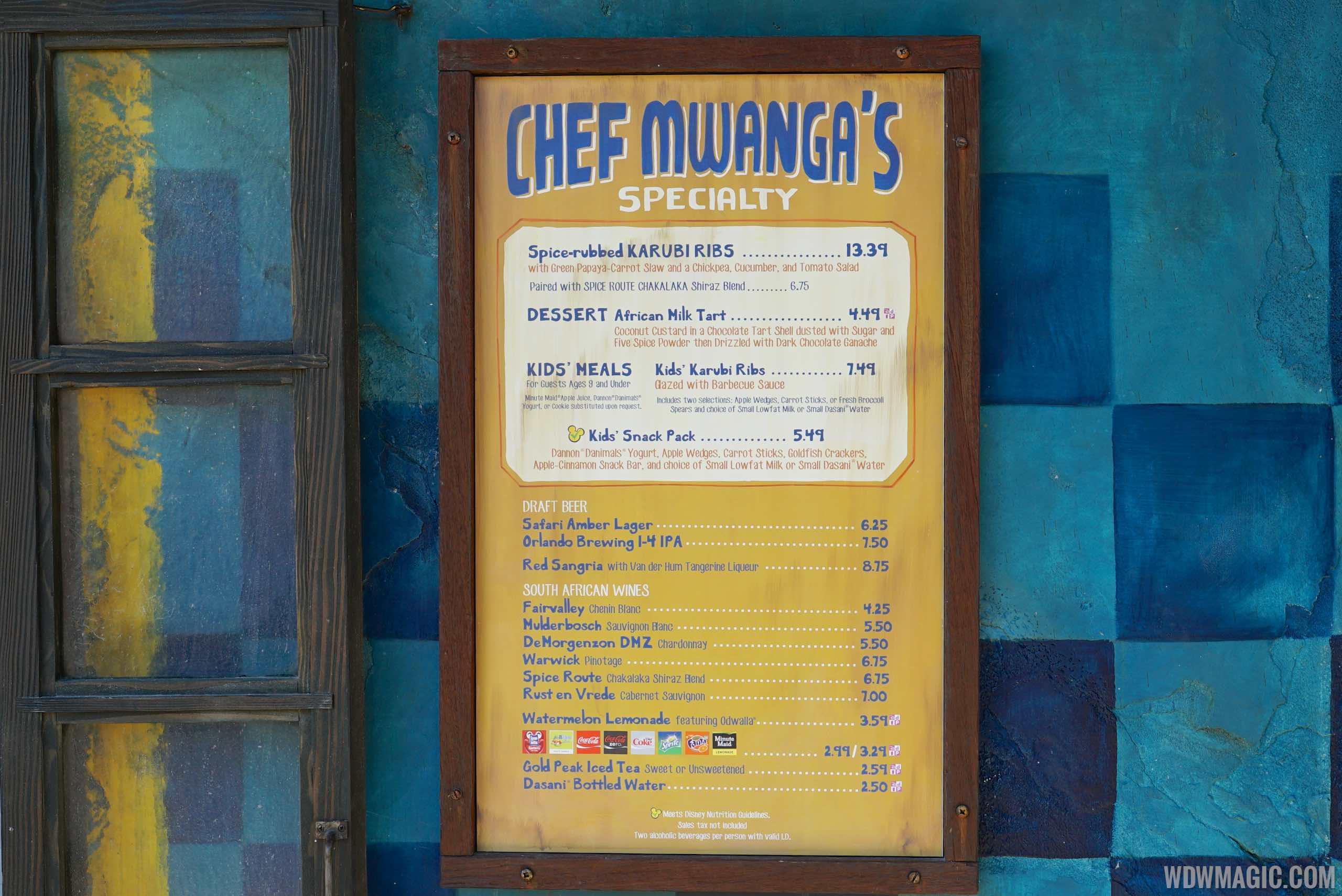 Harambe Market menu - Chef Mwanga's Ribs