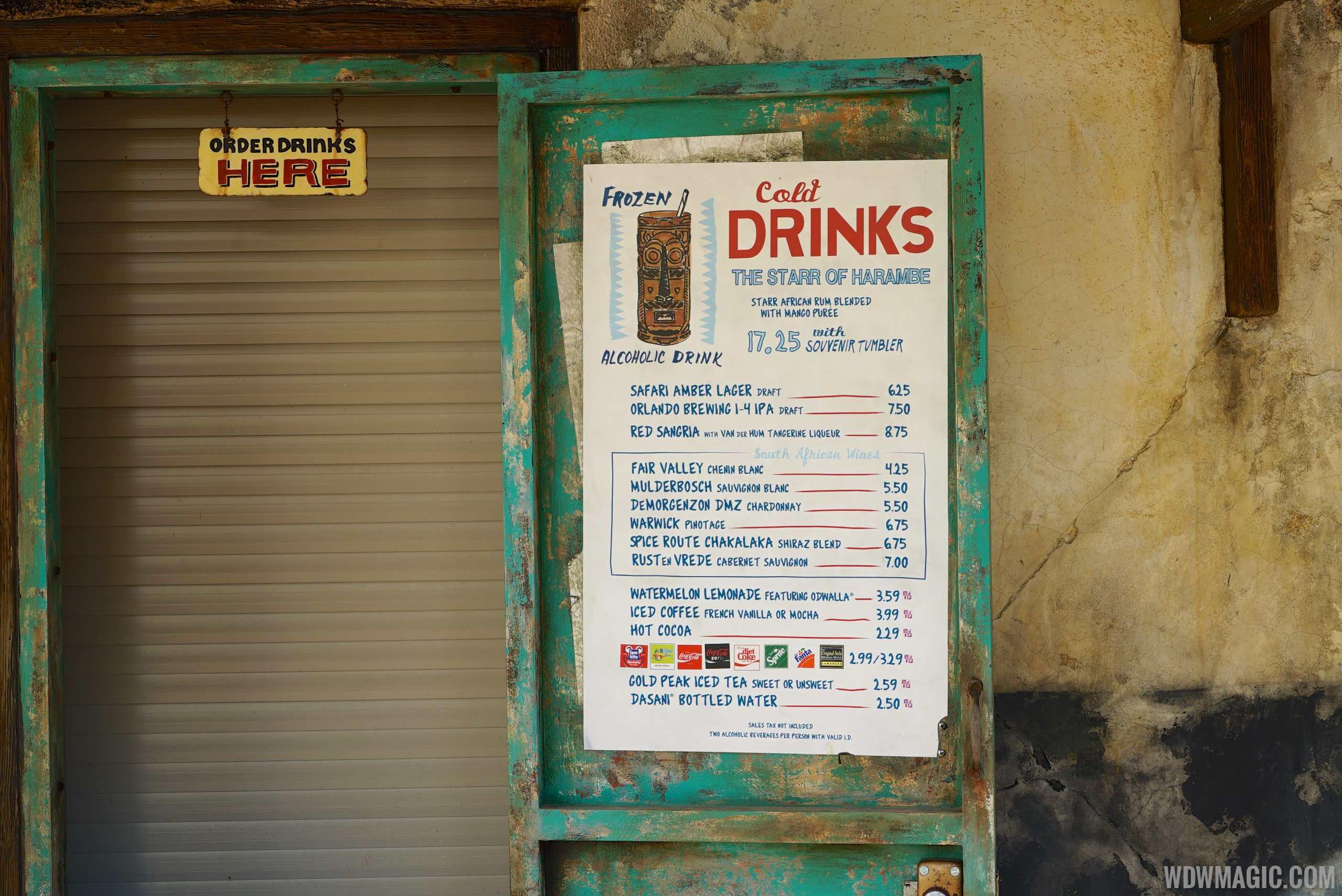 Harambe Market menu - Wanjohi Refreshment
