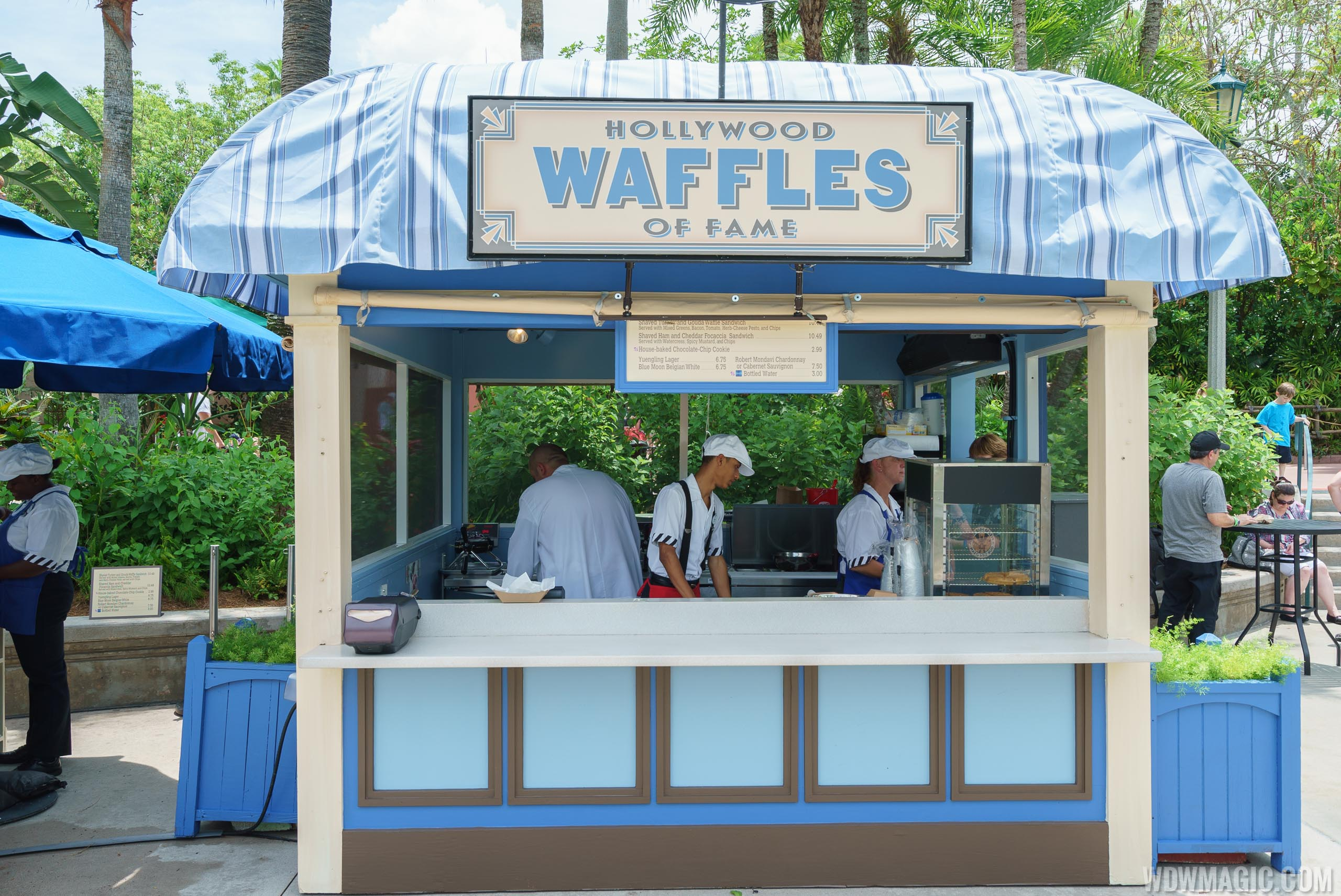Hollywood Waffles of Fame kiosk