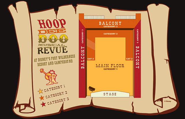 Hoop Dee Doo Musical Revue seating plan