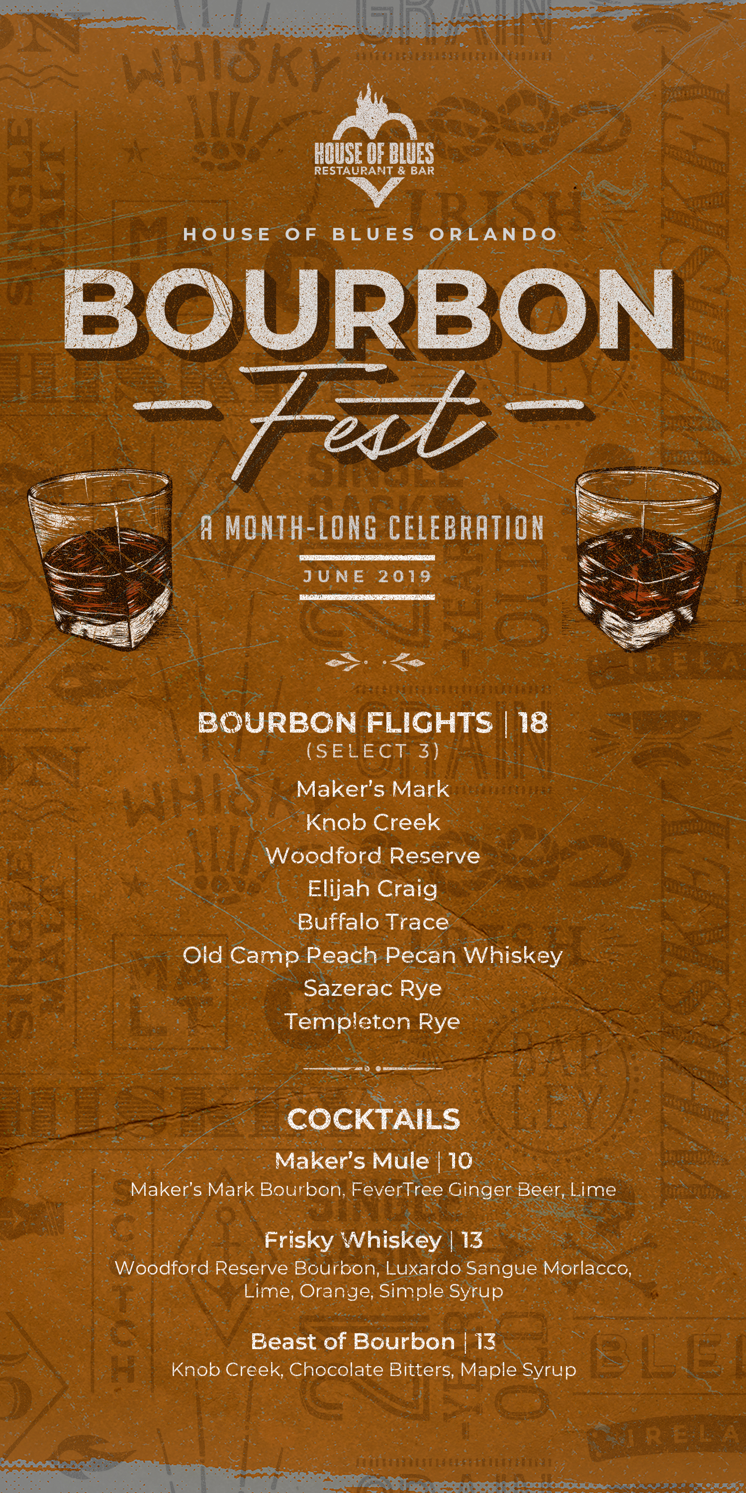 House of Blues Bourbon Fest June 2019