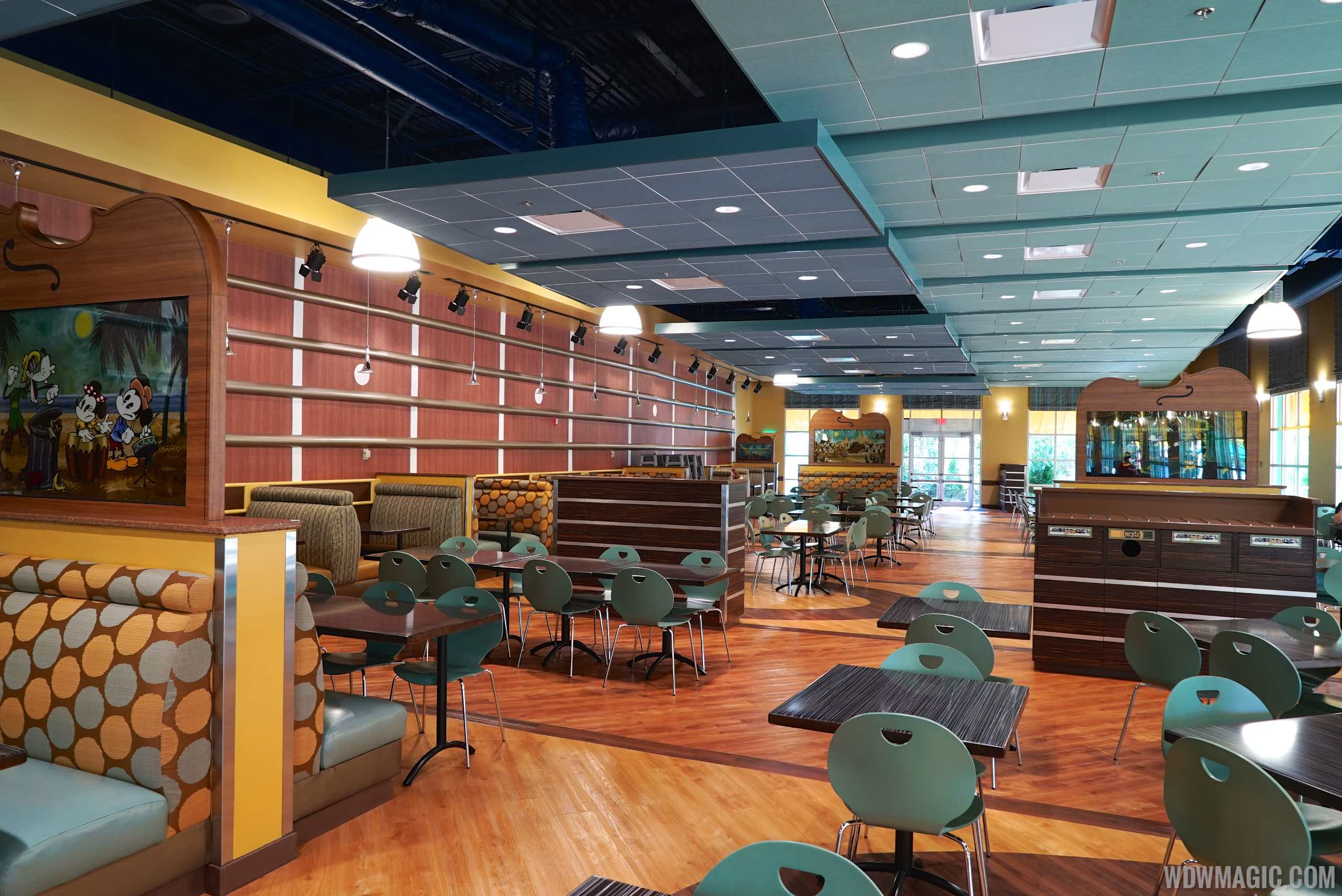 Dining room at the new Intermission Food Court