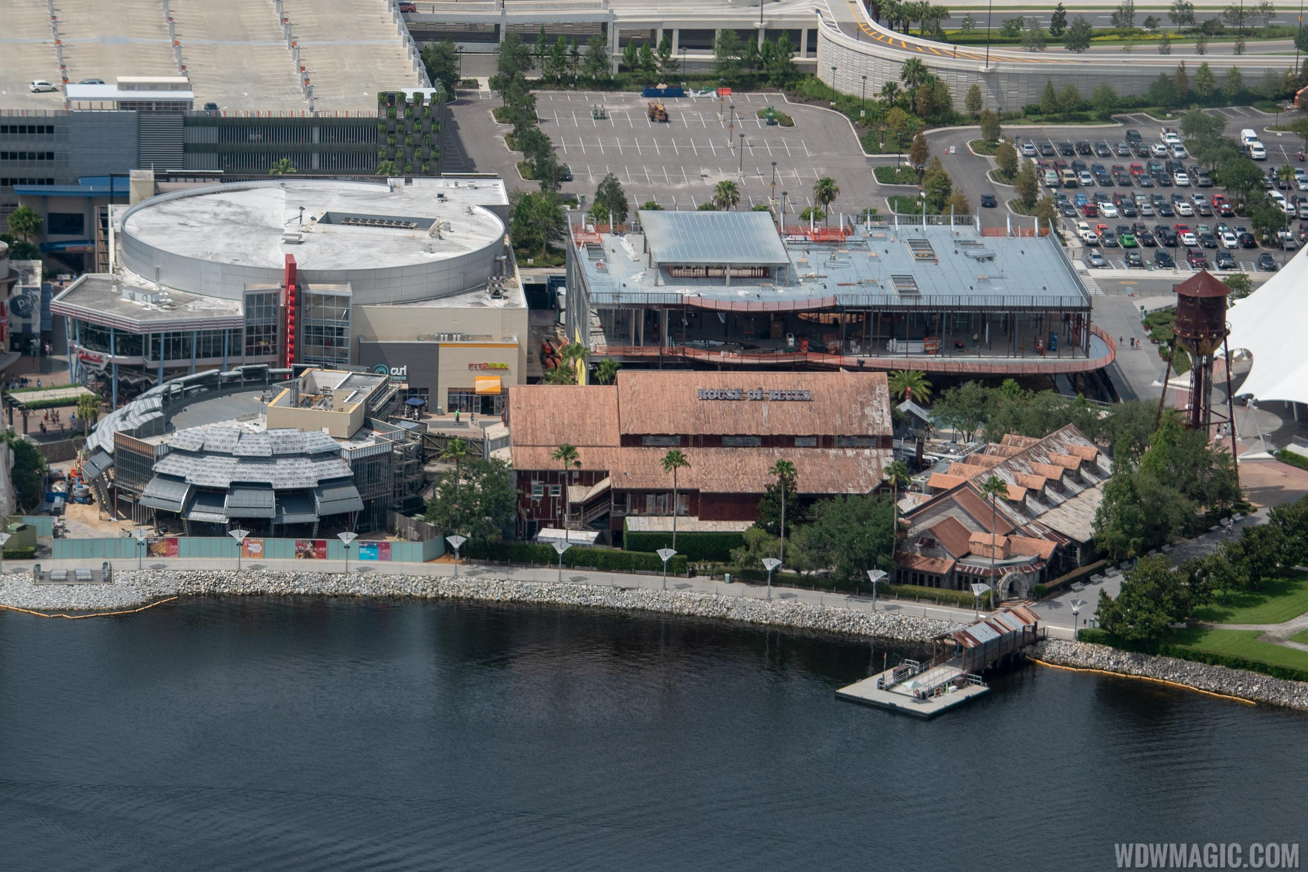Jaleo and NBA Experience construction from the air - July 2018
