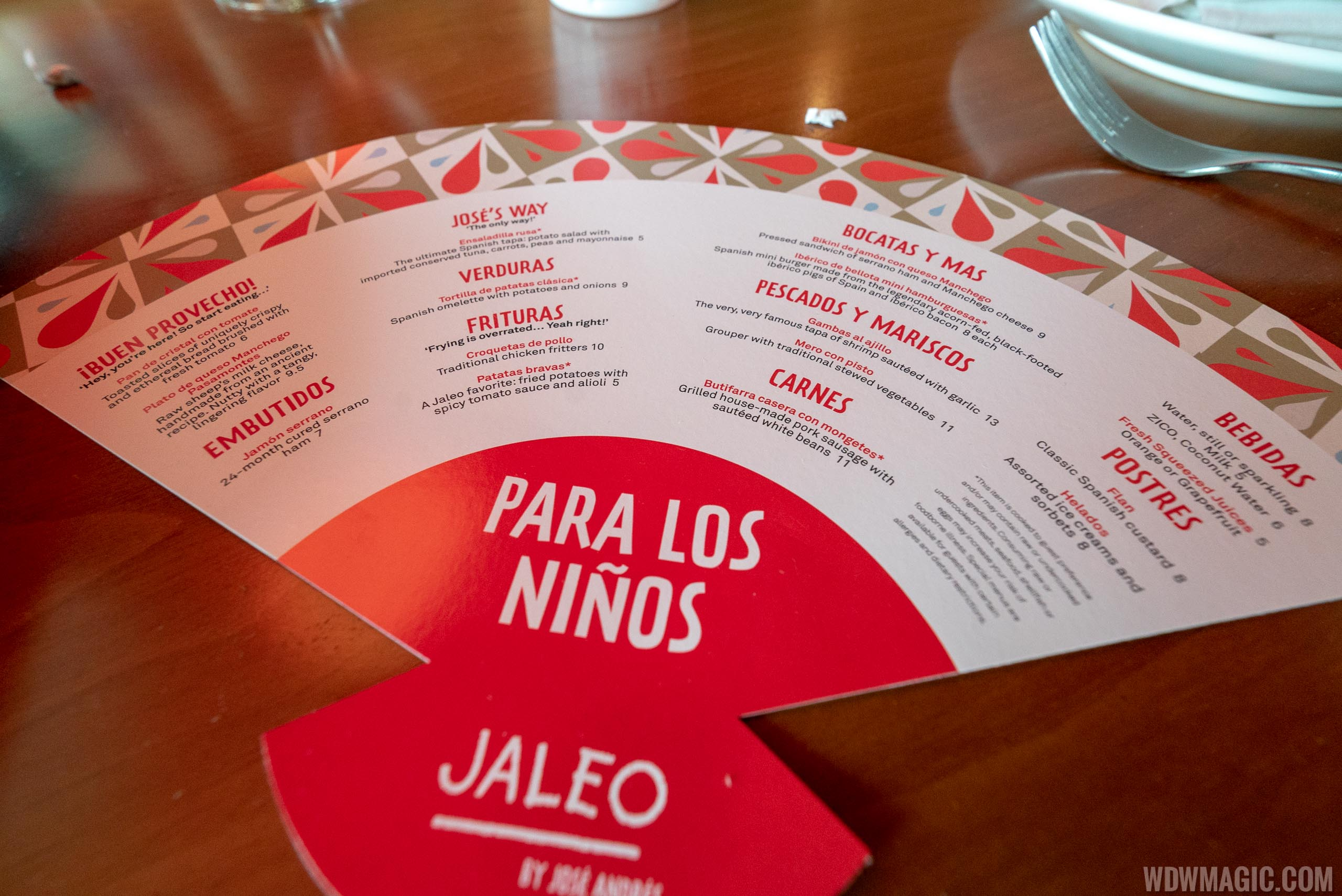 Jaleo Disney Springs - Kids menu