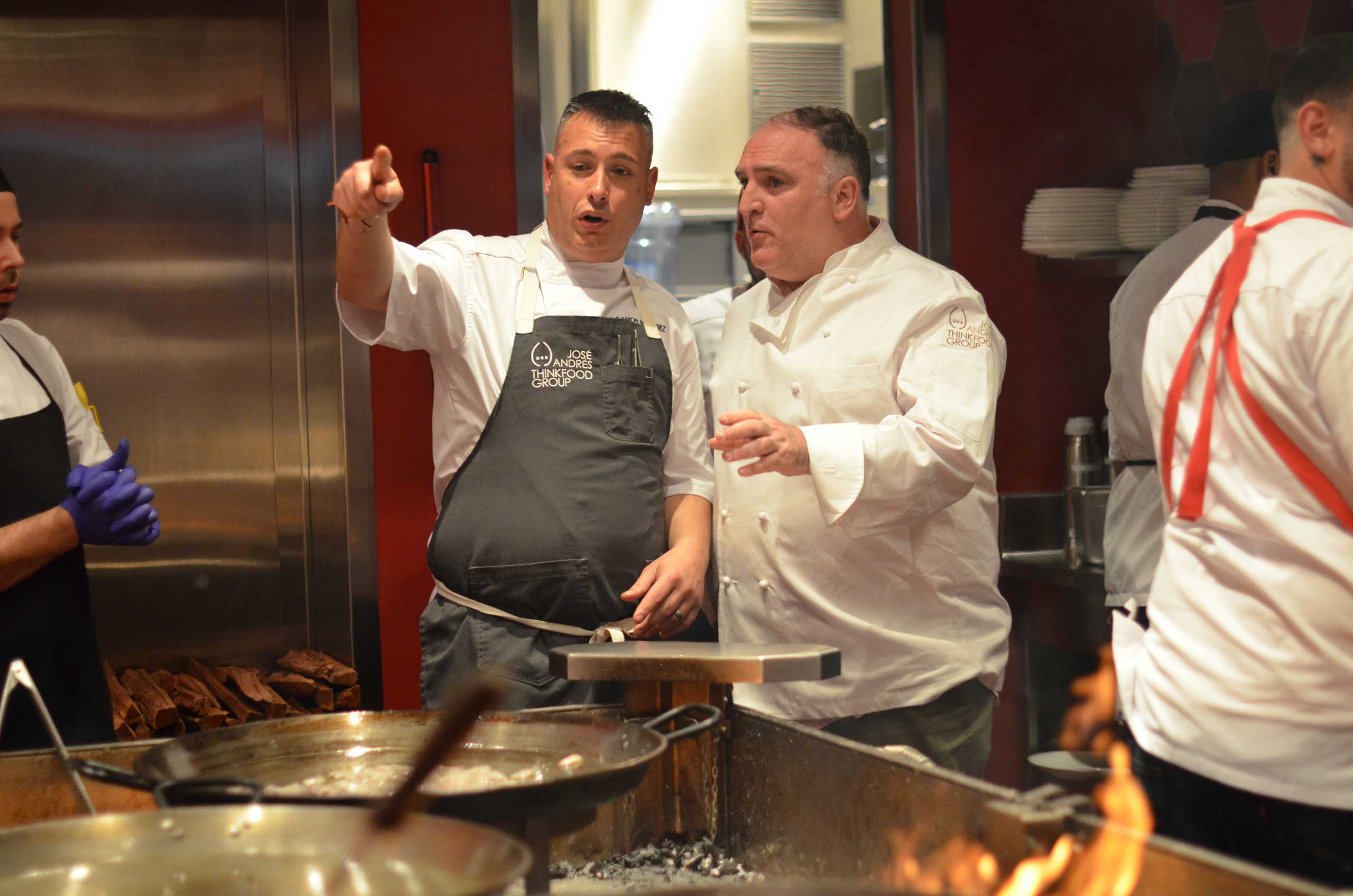 Chef José Andrés at the Grand Opening Party of Jaleo at Disney Springs