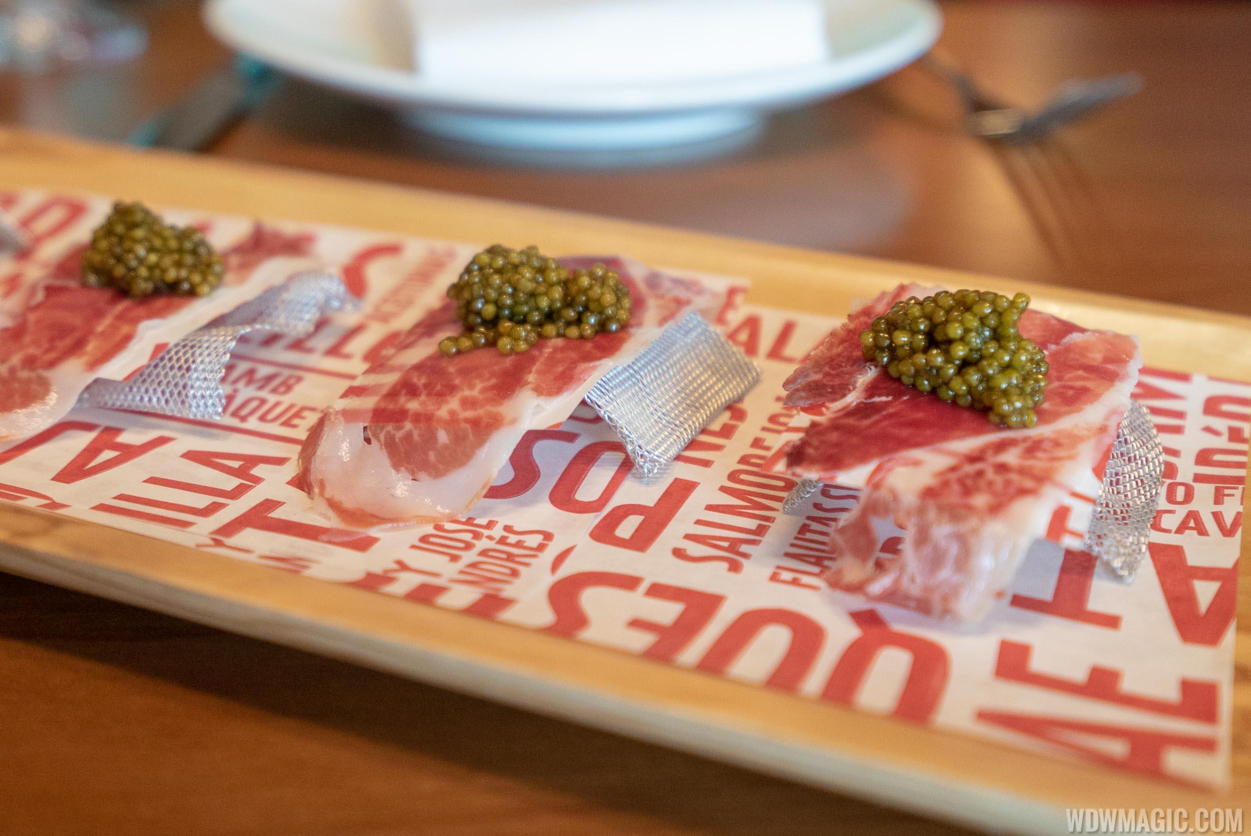 Chef's tasting menu: José's Way - Ibérico de bellota and Supreme caviar