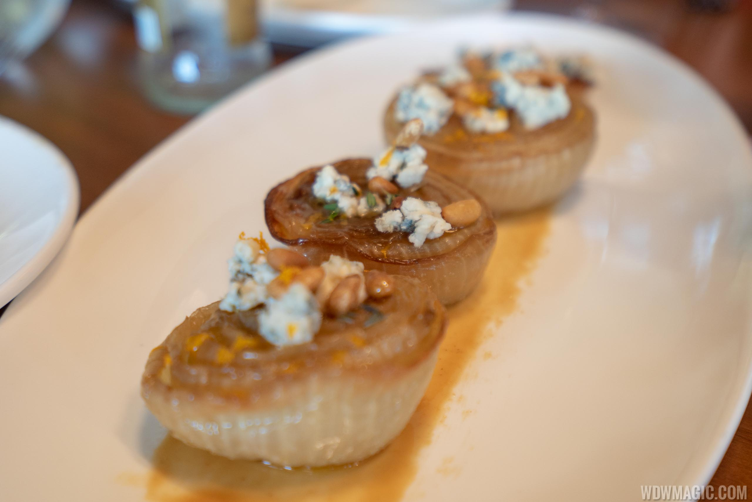 Chef's tasting menu: José's Way - Roasted sweet onions, pine nuts, and La Peral blue cheese