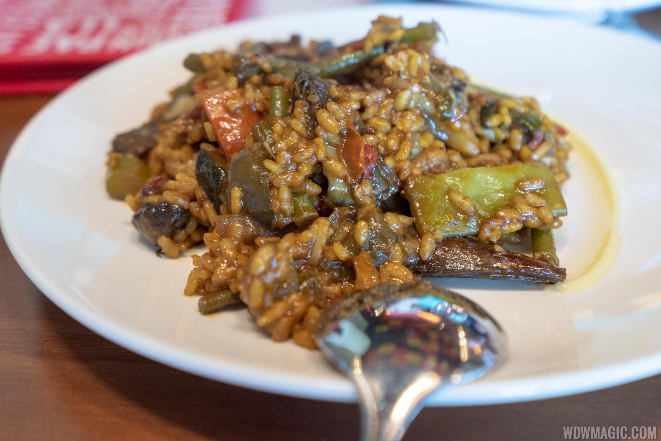 Chef's tasting menu: José's Way - A traditional paella of seasonal vegetables and mushrooms