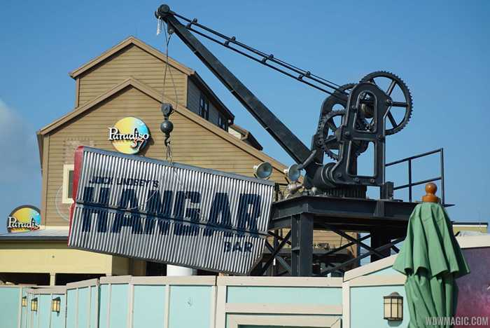 Jock Lindsey's Hangar Bar construction