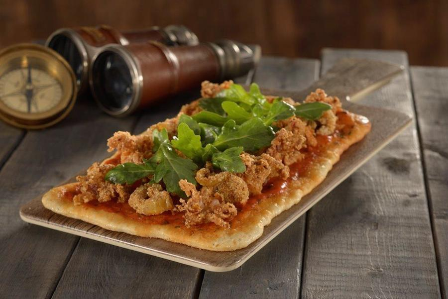 'Squid! Why'd It Have to Be Squid' - fried calamari flatbread with spicy harissa