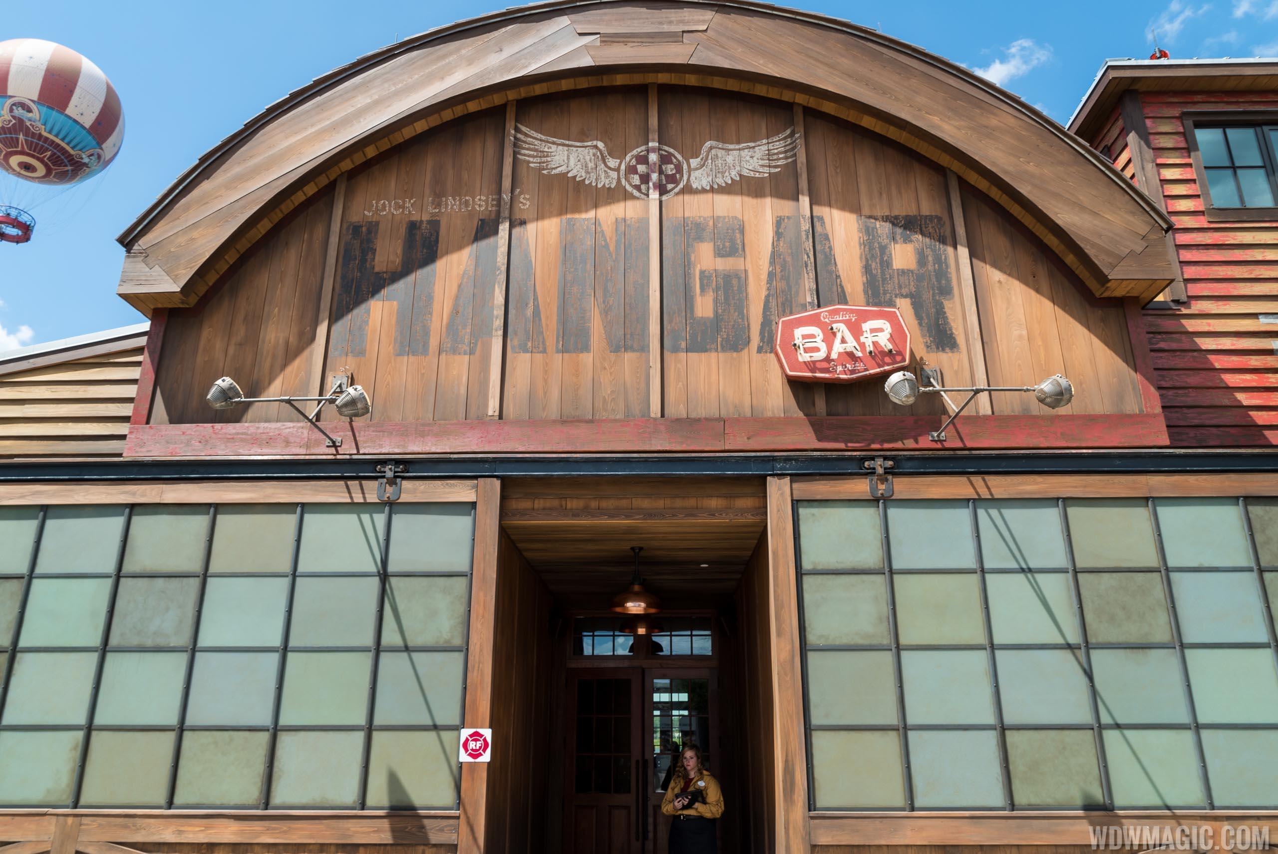 Jock Lindsey's Hangar Bar opening day
