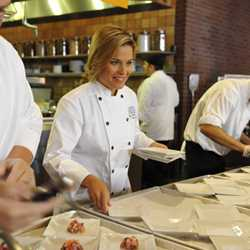 Cat Cora visits Kouzzina for grand opening