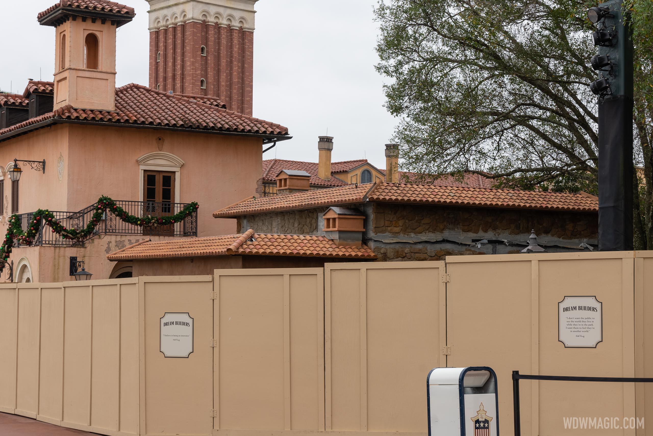 La Gelateria construction - January 12 2021