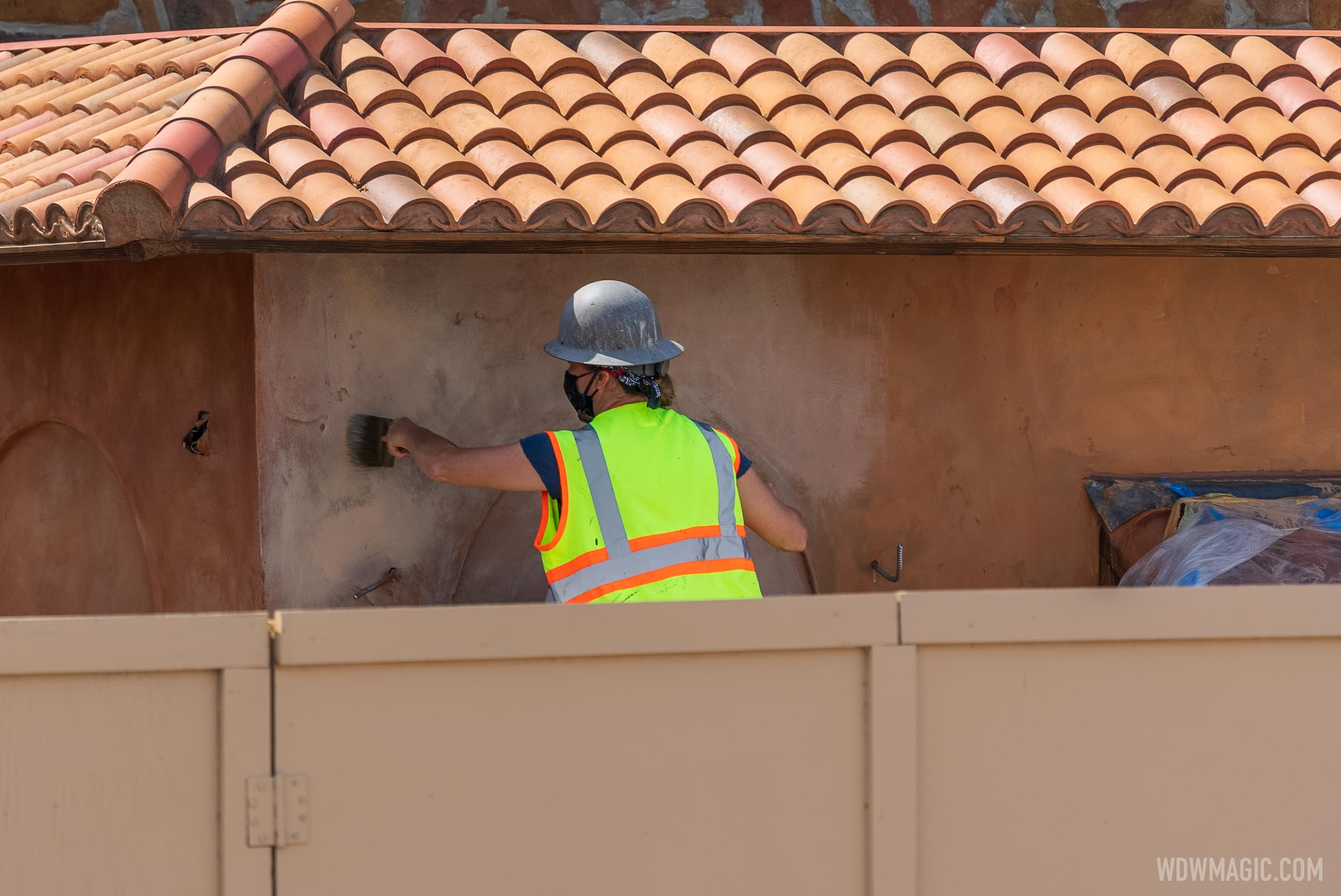 La Gelateria construction continues at EPCOT'S Italy pavilion