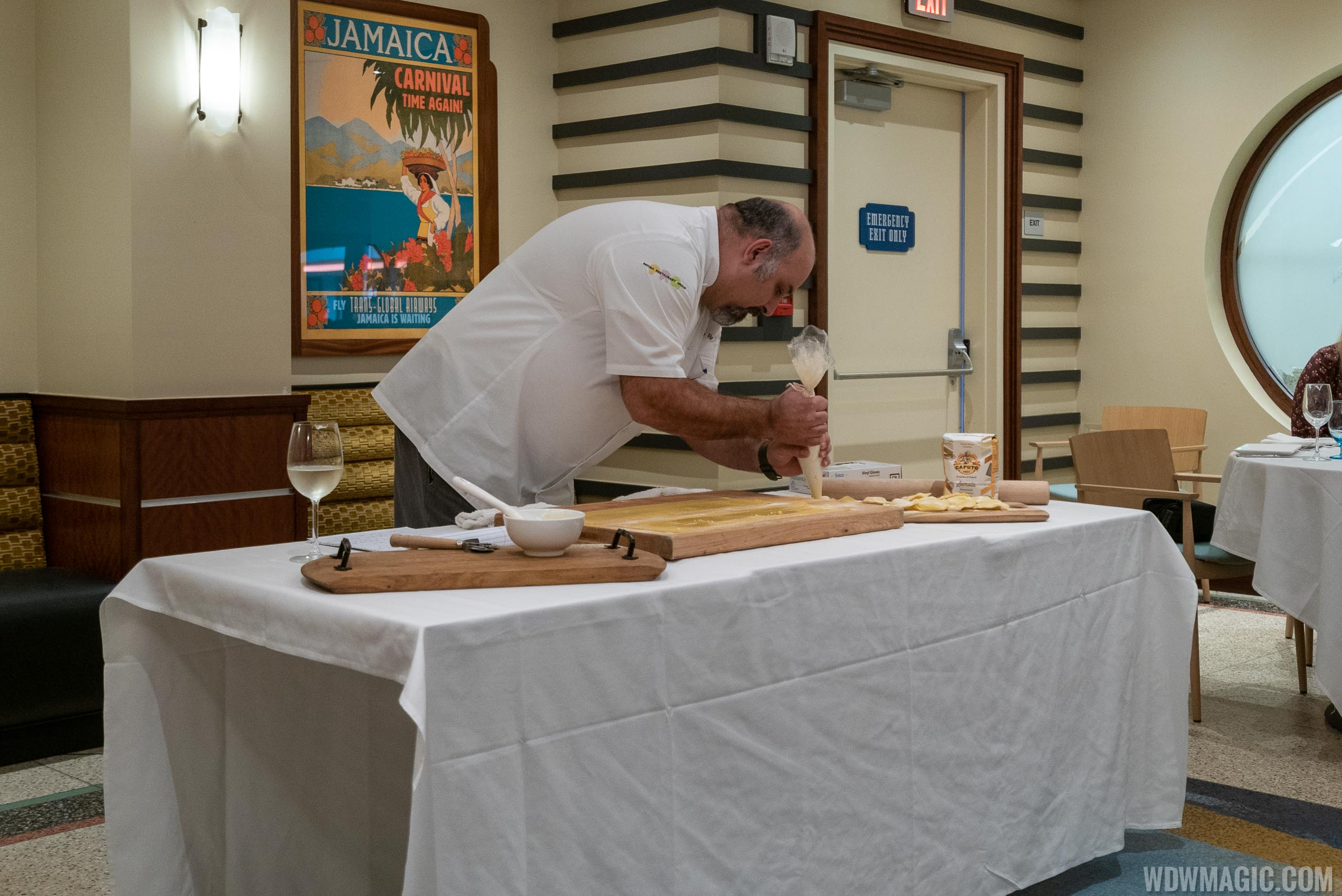 Maria and Enzo's Executive Chef Charlie Restivo demonstrates the art of making Ravioli