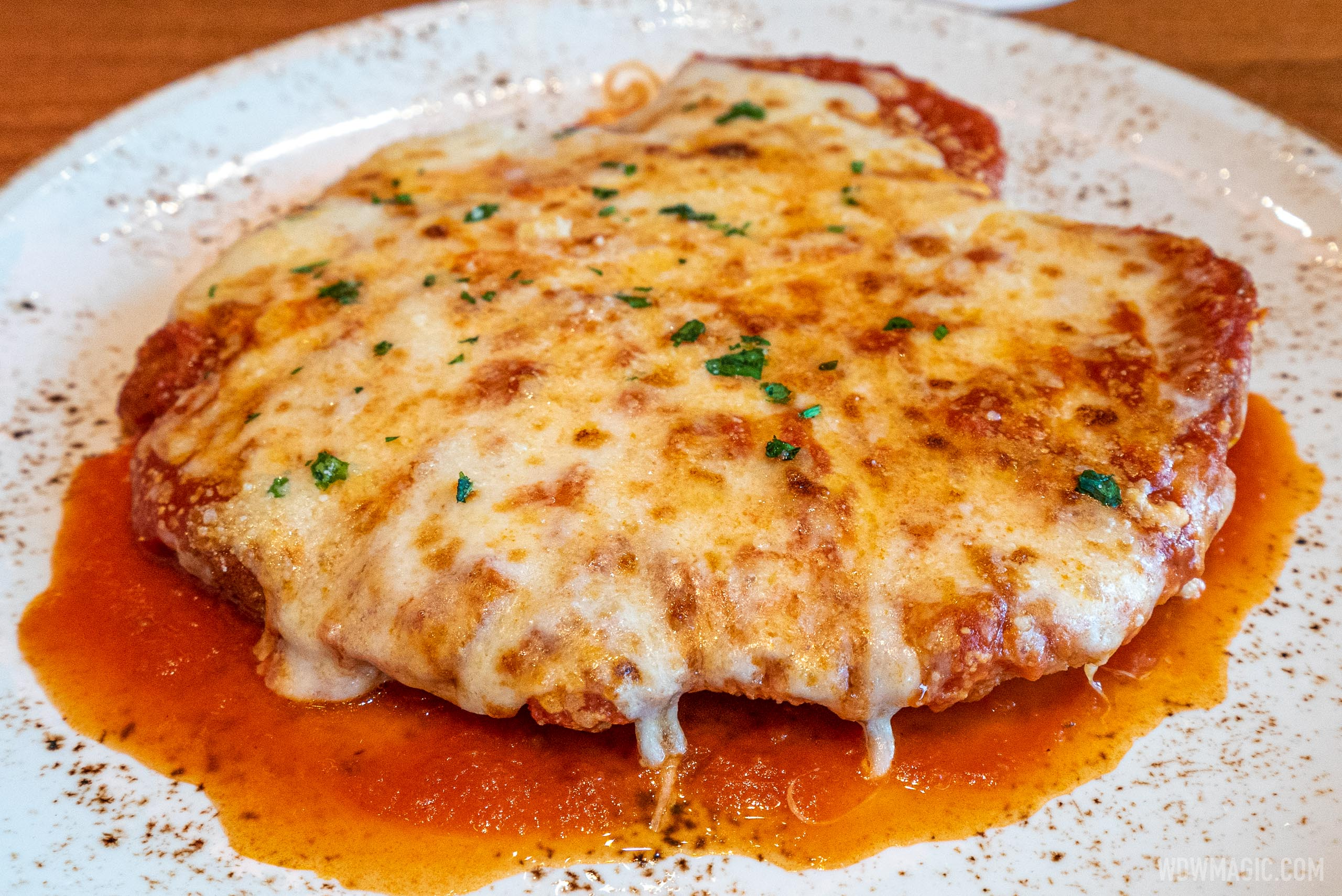 Maria and Enzo's food and drink - Pollo alla Parmigiana
