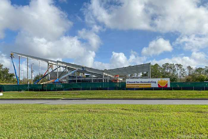 McDonald's at the All Star Resorts area construction January 2020