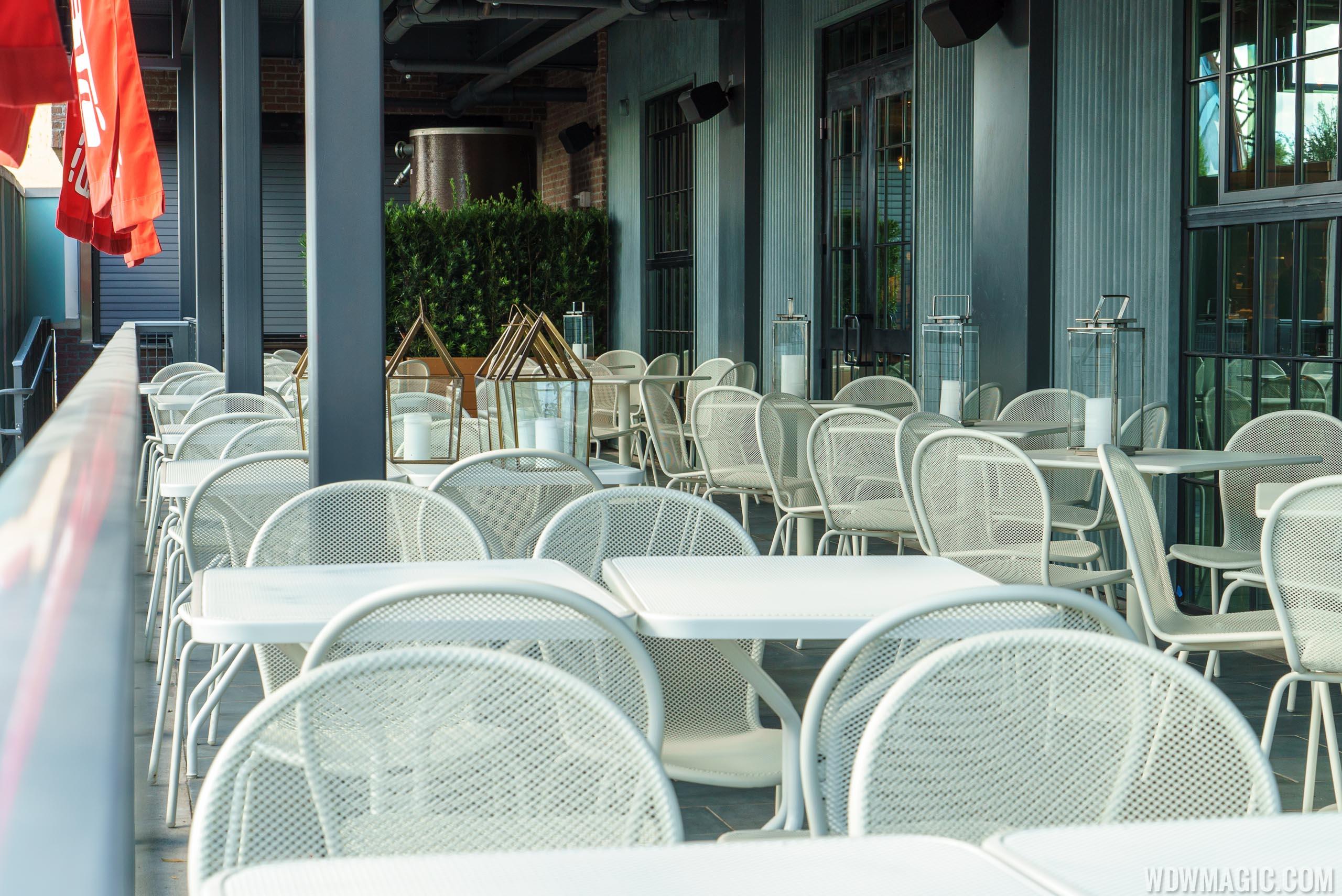 Morimoto Street Food seating