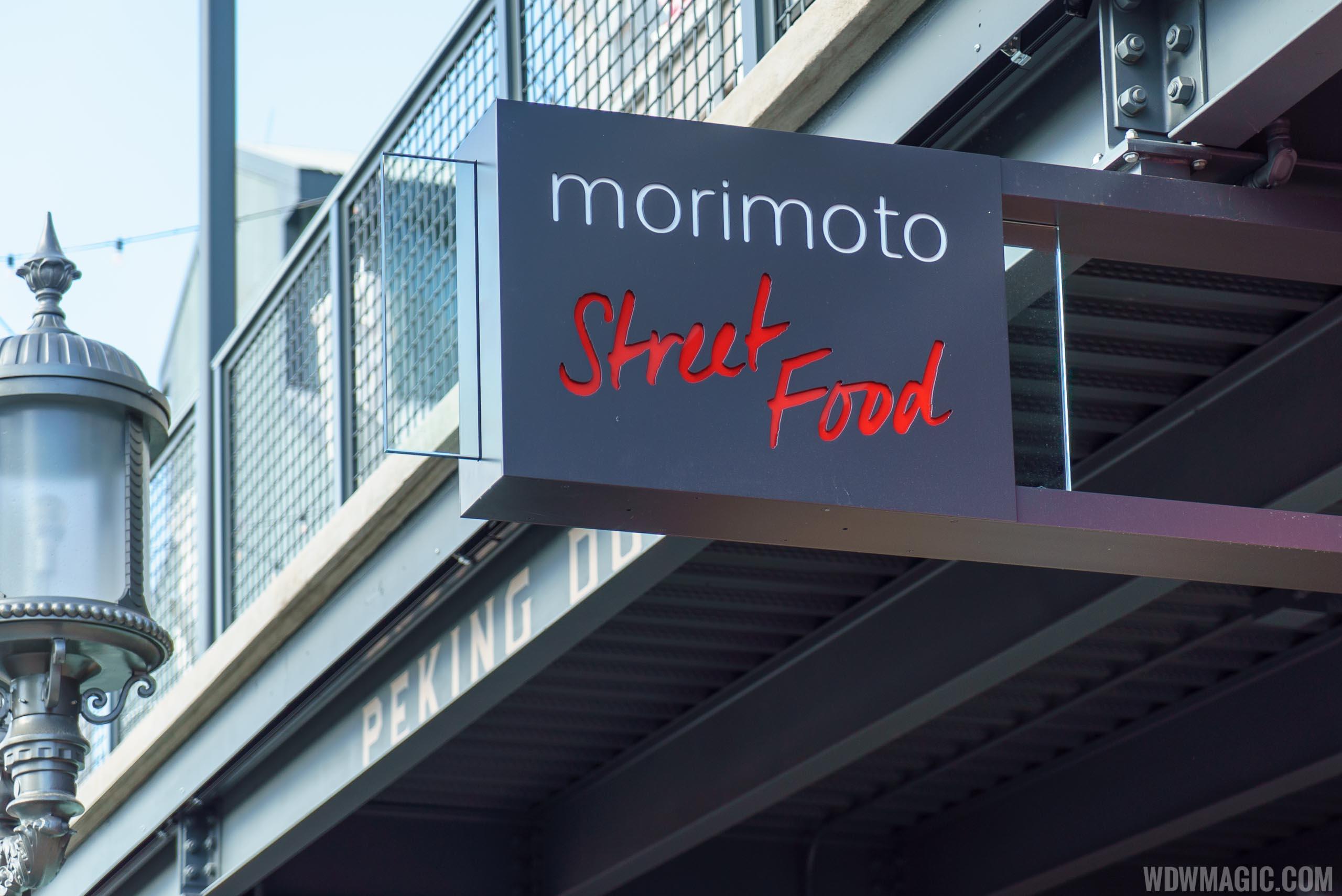Morimoto Street Food sign