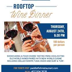 Paddlefish Rooftop Wine Dinner