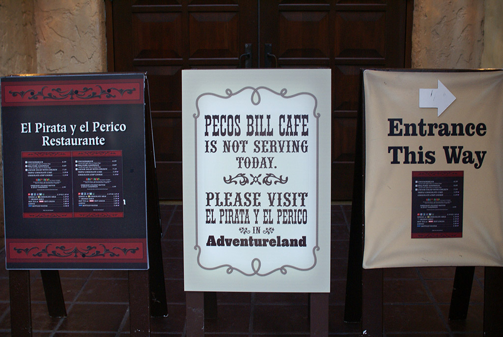 Pecos Bills closed for refurbishment