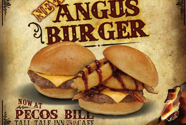 Pecos Bill Cafe angus burger
