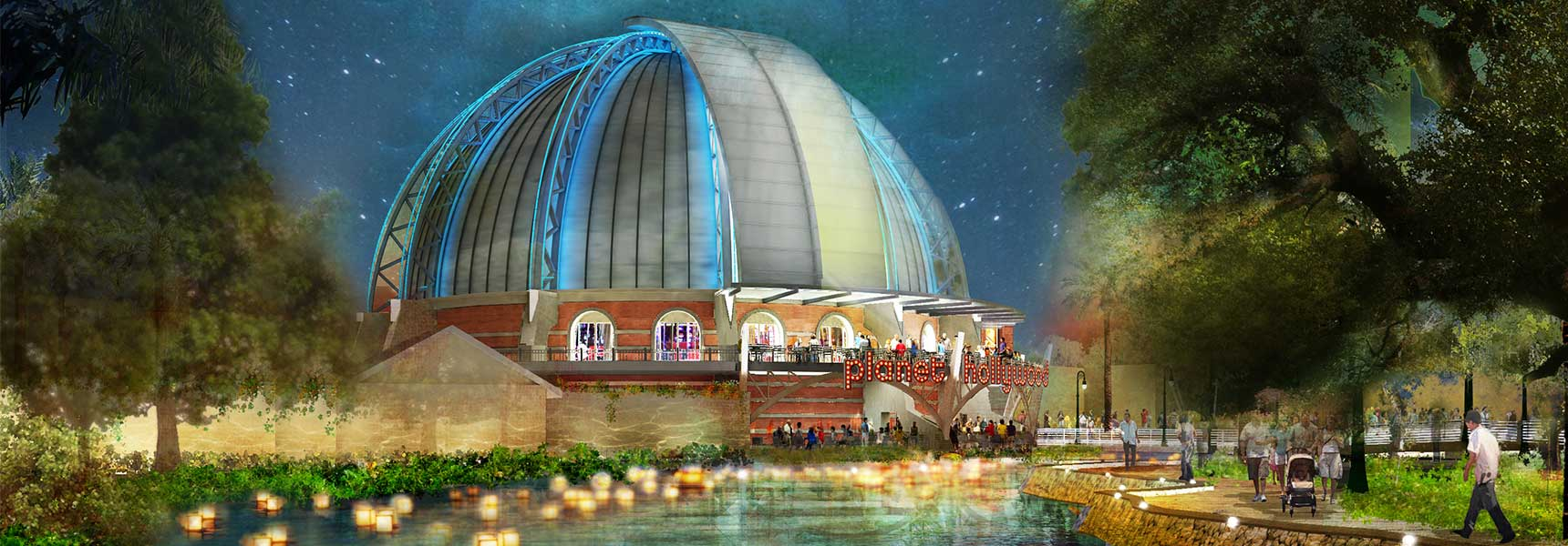 Concept art of the outdoor Stargazers patio