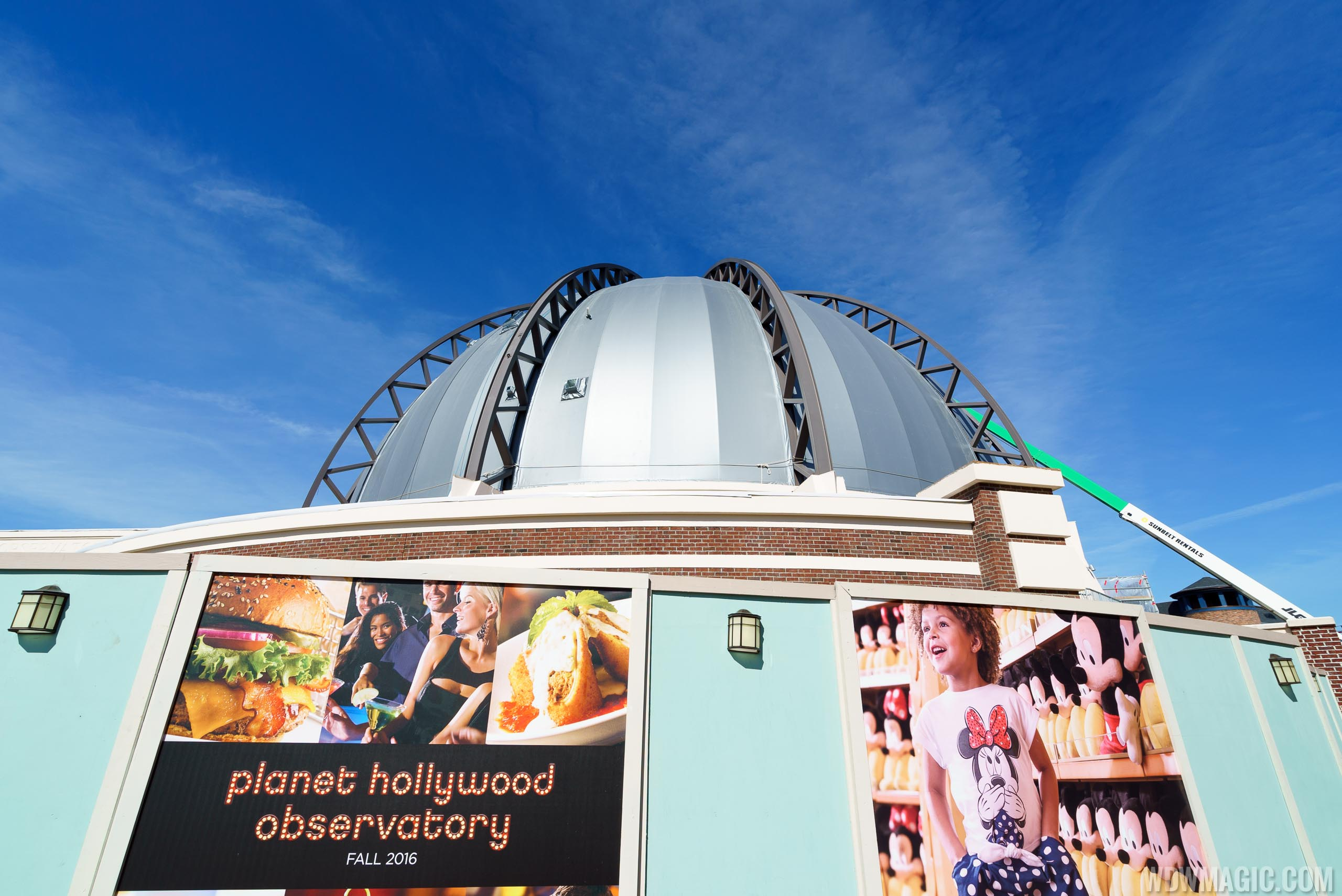 Planet Hollywood Observatory construction