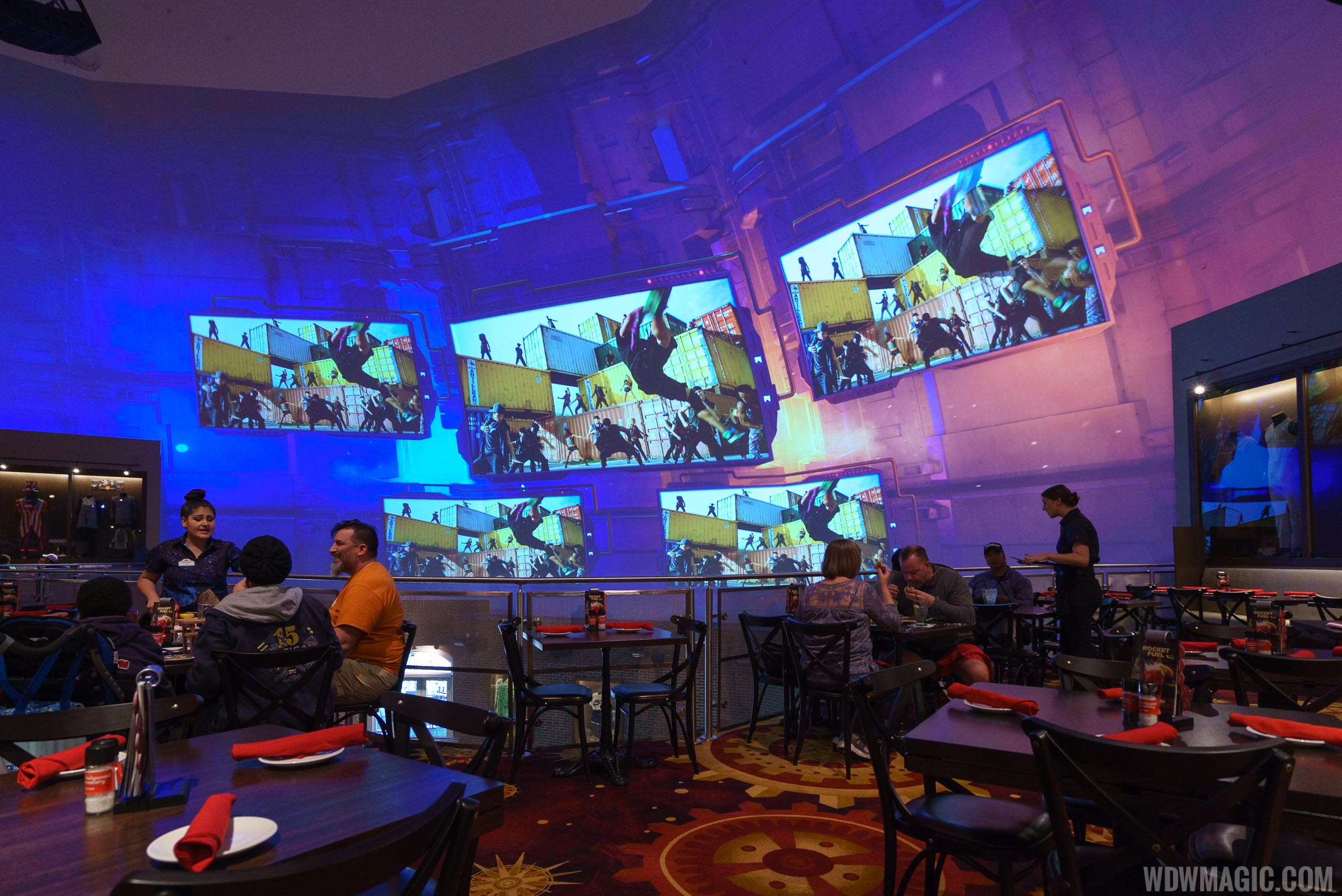 Planet Hollywood Observatory - Second level view of video wall