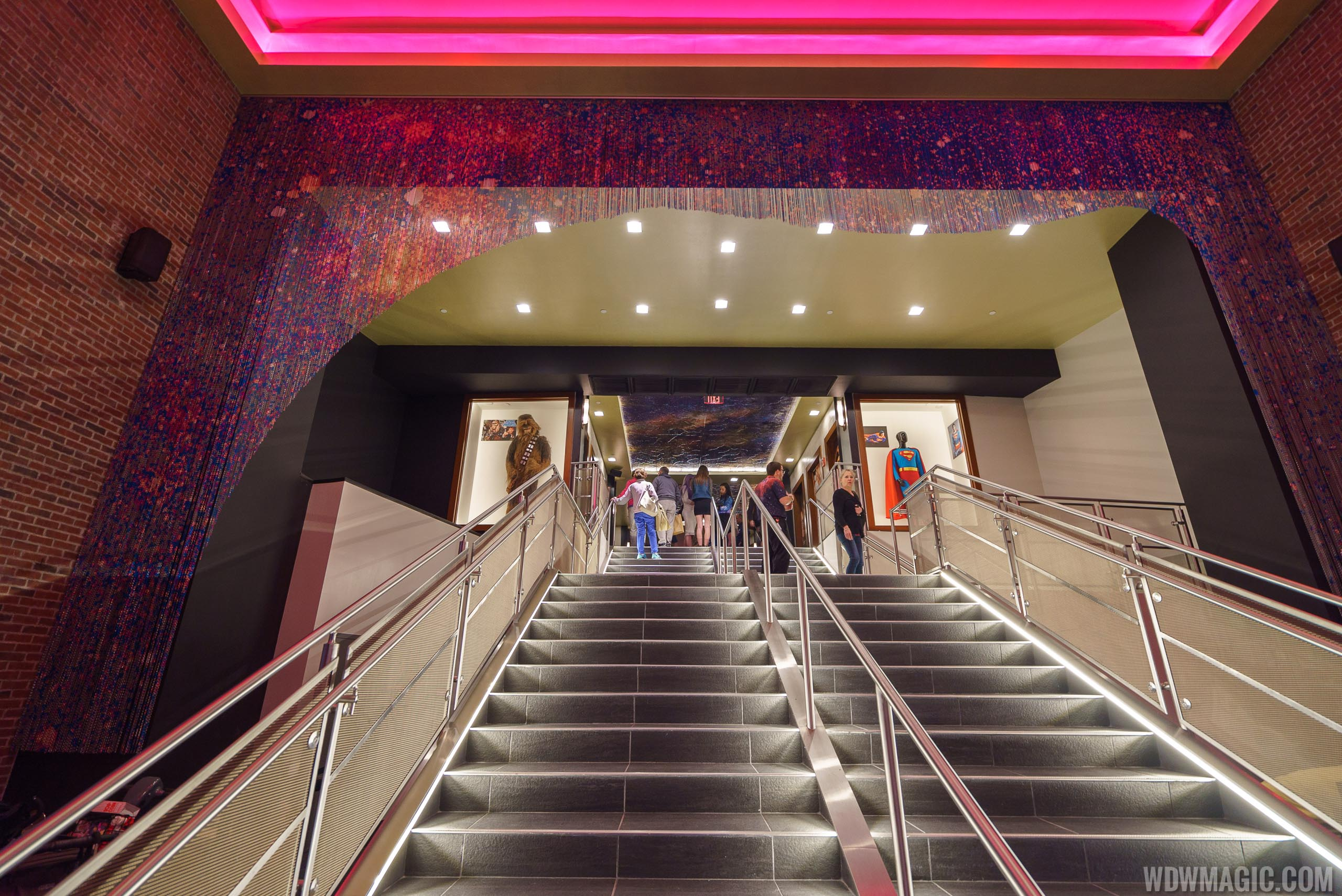 Planet Hollywood Observatory - Staircase up to the dining rooms