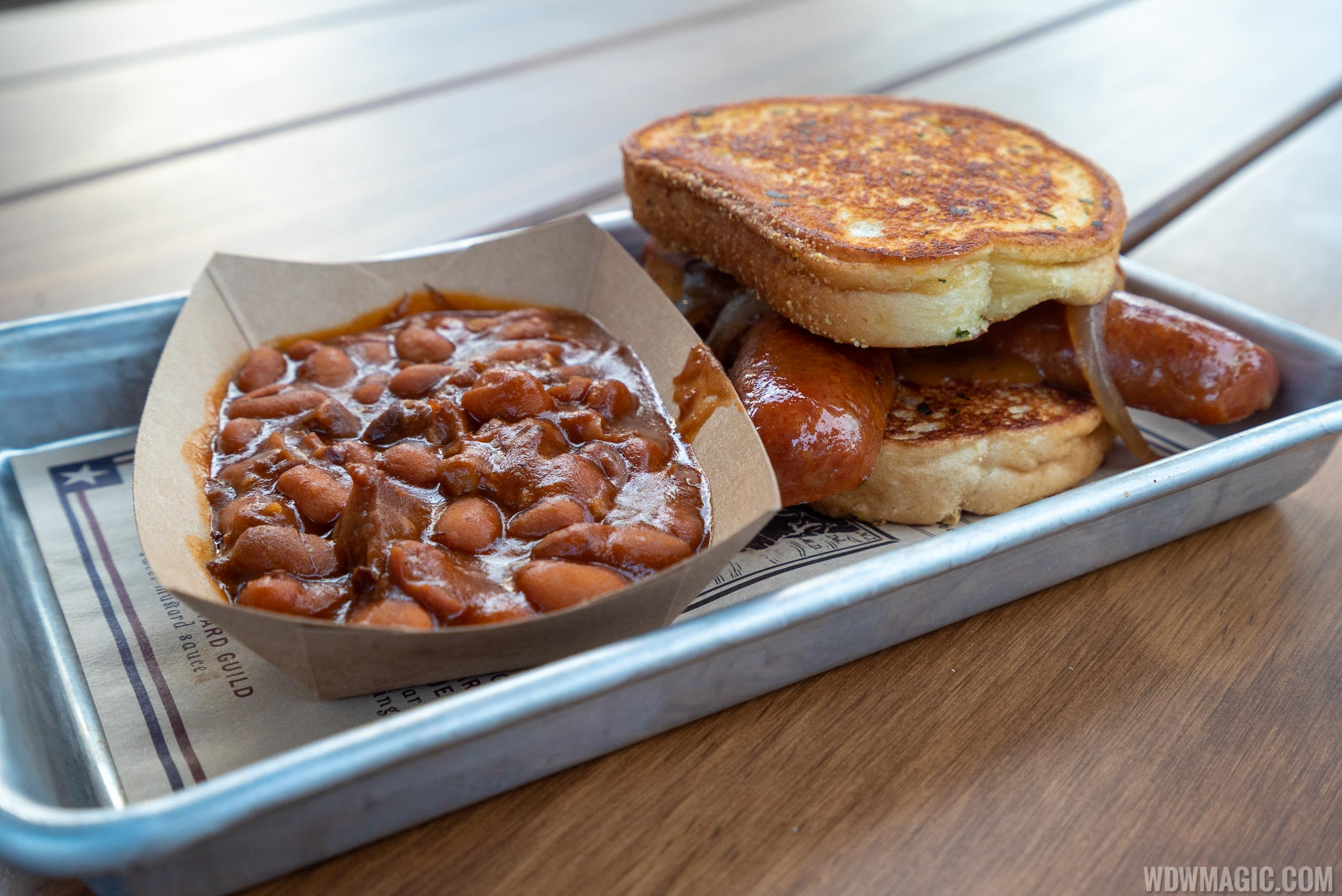 Regal Eagle Smokehouse - South Carolina Smoked Sausage Sandwich with Baked Beans with Burnt Ends