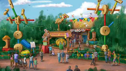 PHOTO - New concept art of the upcoming Toy Story Land restaurant at Walt Disney World