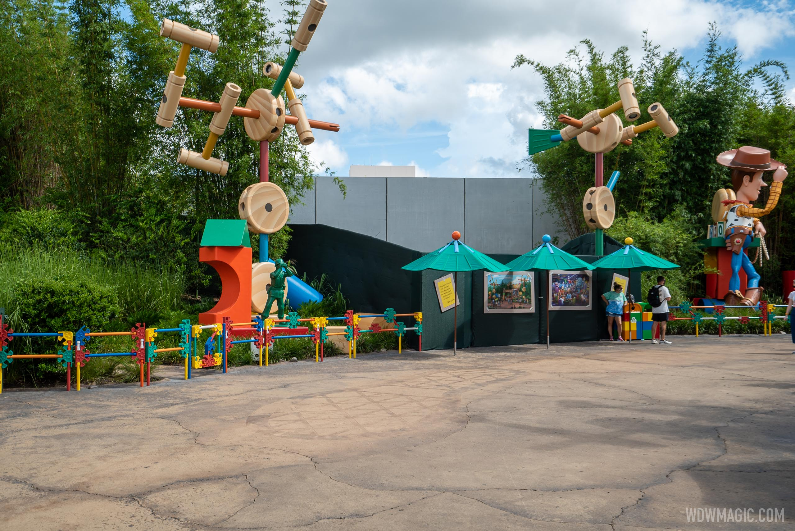 Roundup Rodeo BBQ construction - August 2020