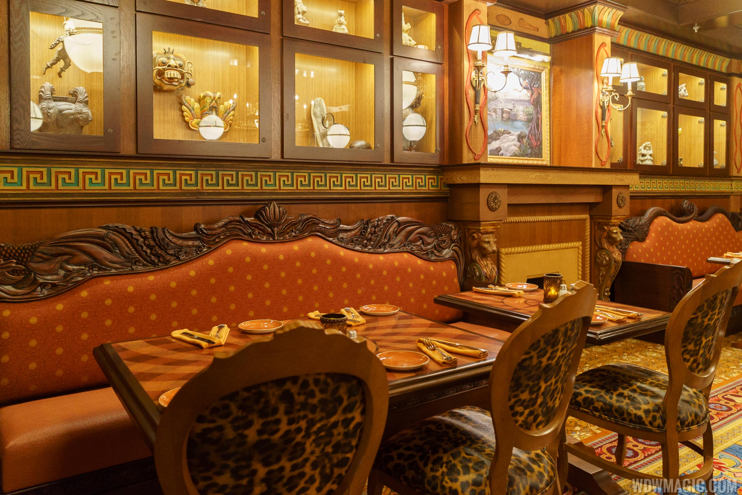 Jungle Cruise Skipper Canteen - S.E.A. dining room seating