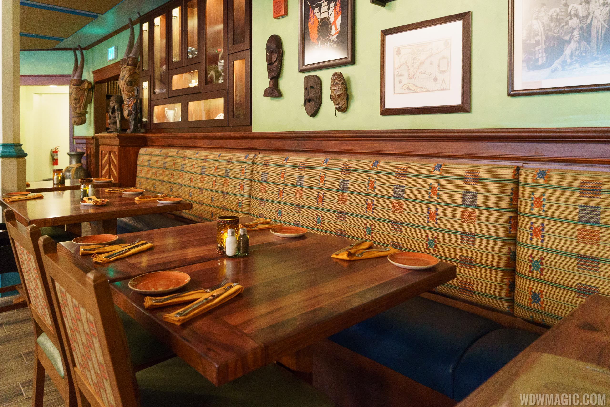 Jungle Cruise Skipper Canteen - Mess Hall dining room seating
