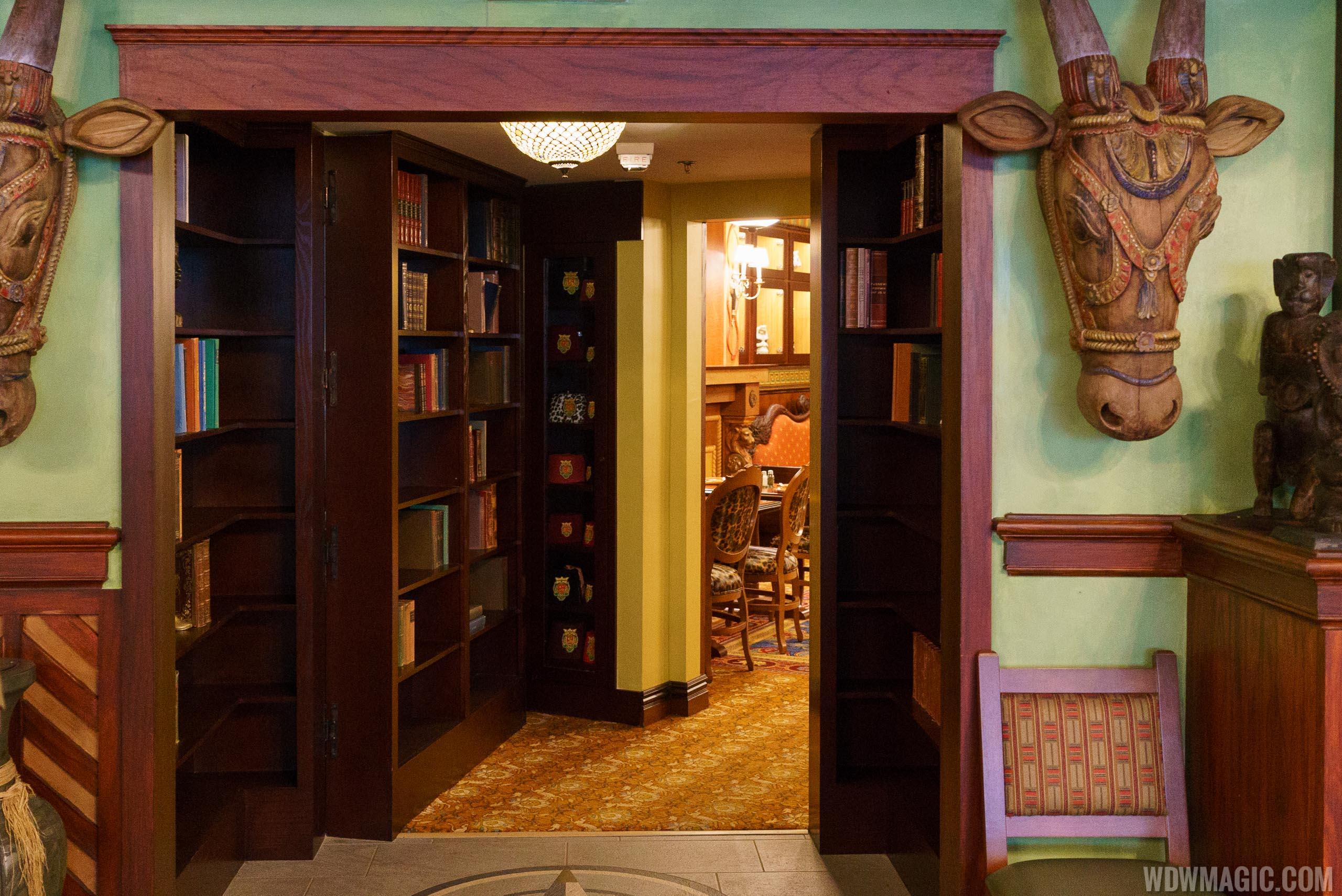 Jungle Cruise Skipper Canteen - Hidden bookcase through to S.E.A. room