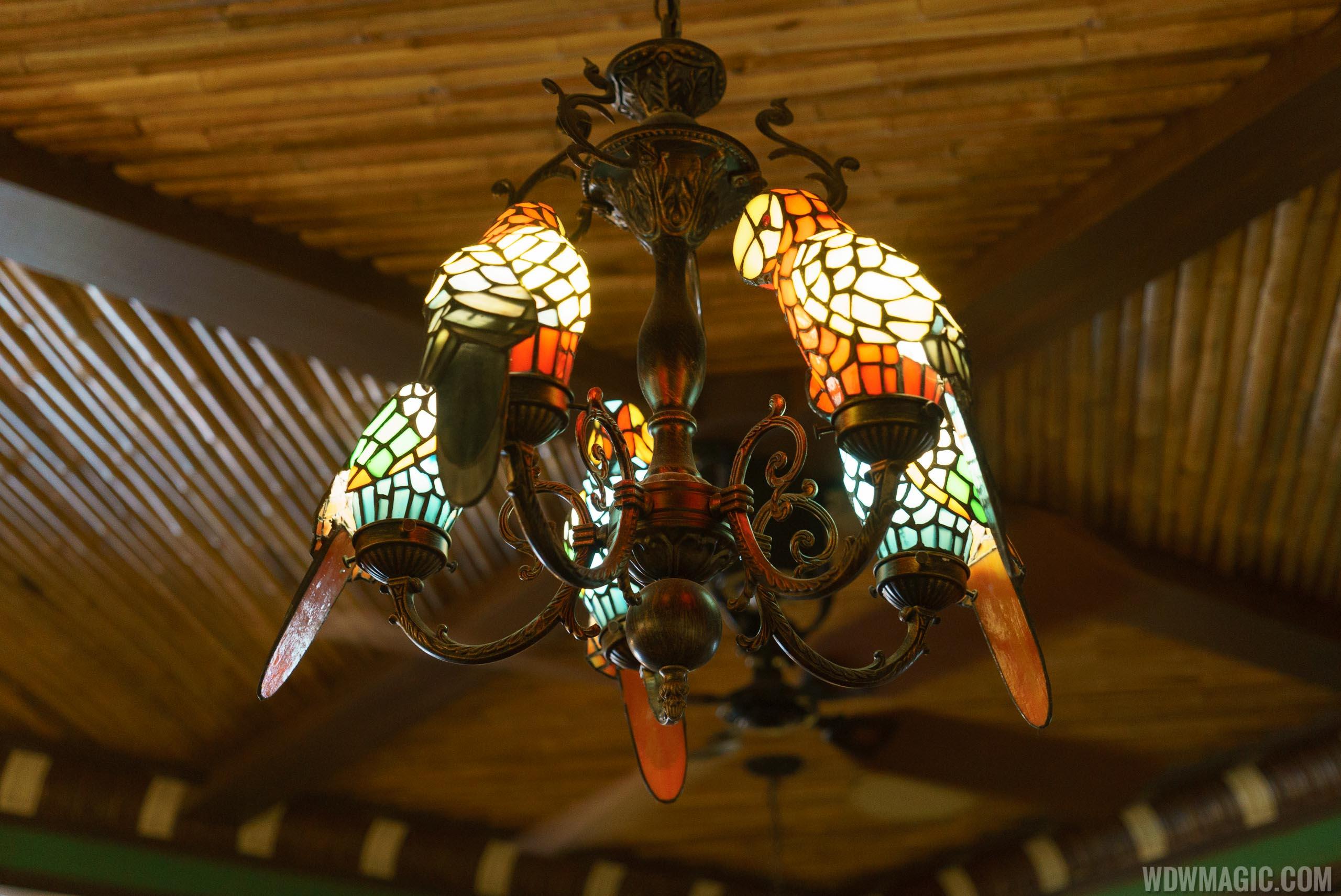 Jungle Cruise Skipper Canteen - Jungle dining room light fixture
