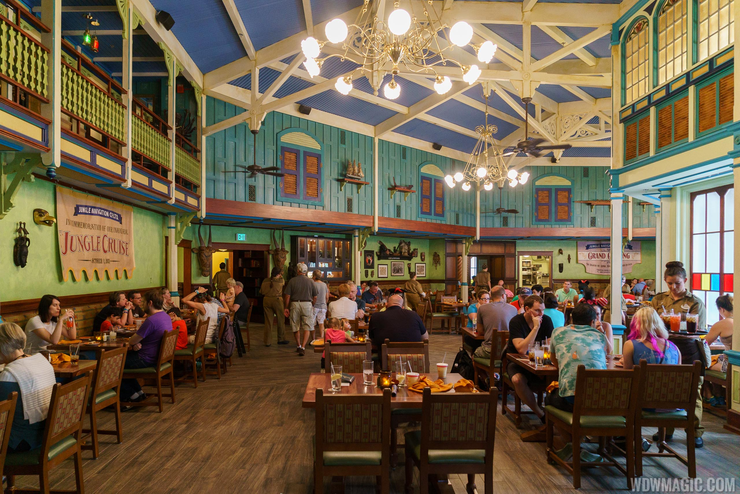 Jungle Cruise Skipper Canteen - Mess Hall dining room