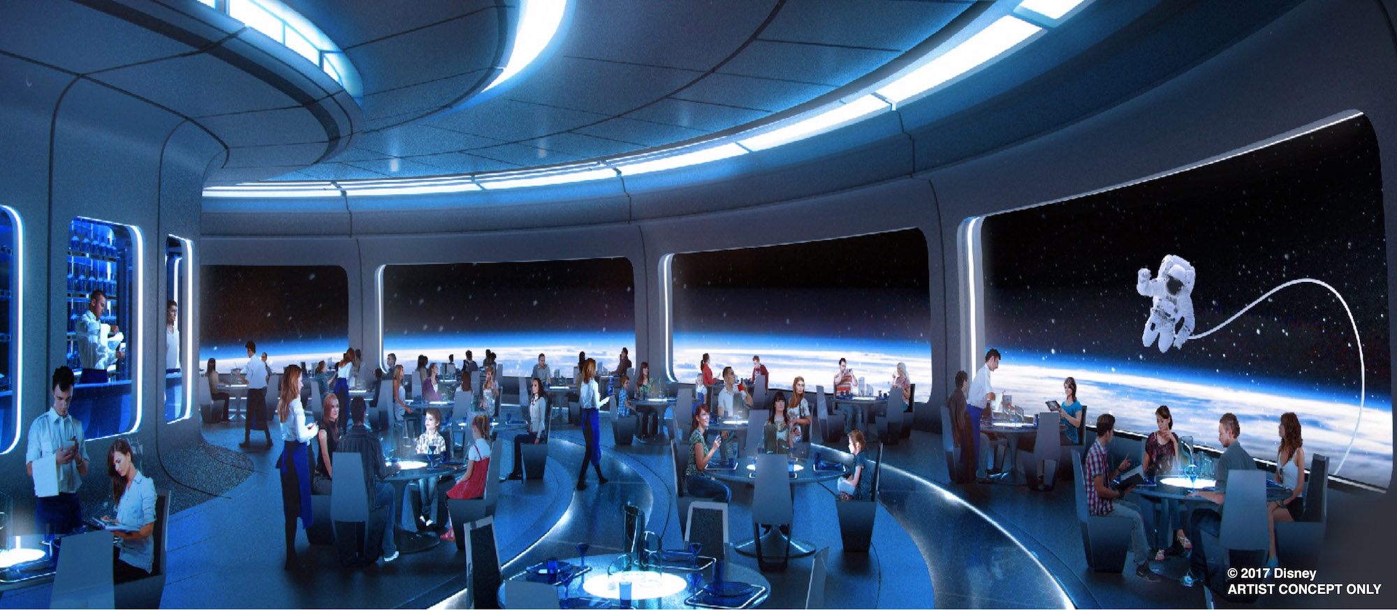 Space Restaurant concept art