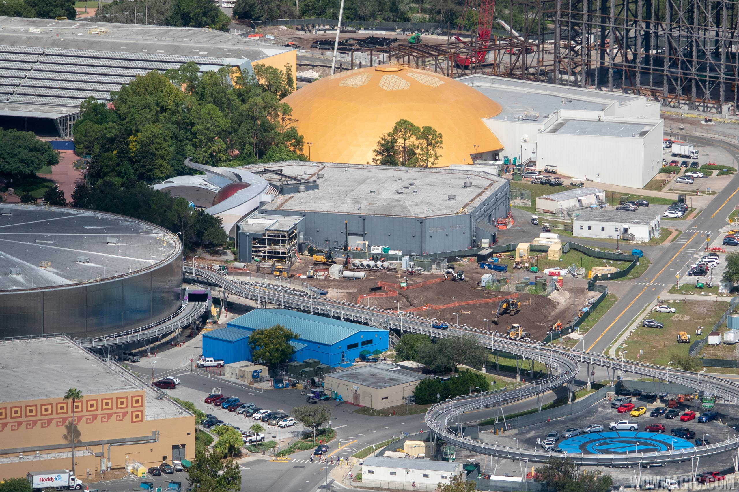 Epcot Space Restaurant construction - September 2018