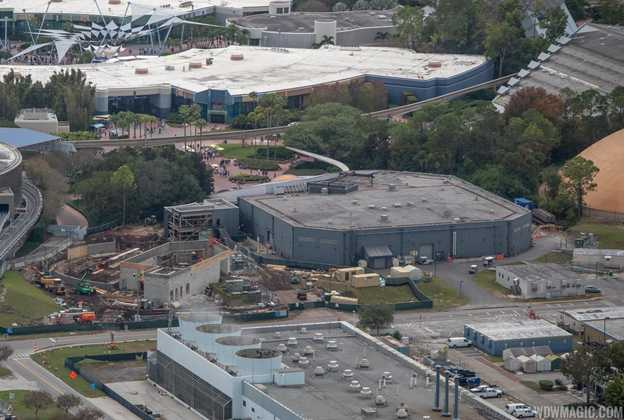Epcot Space Restaurant construction - December 2018