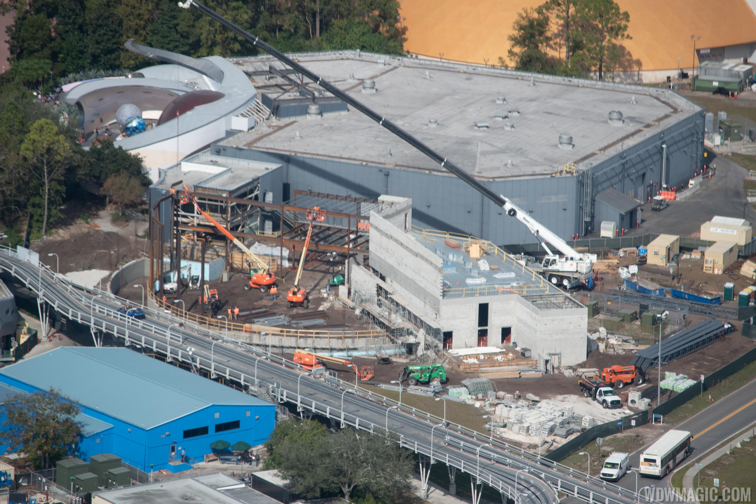Epcot Space Restaurant construction - January 2019