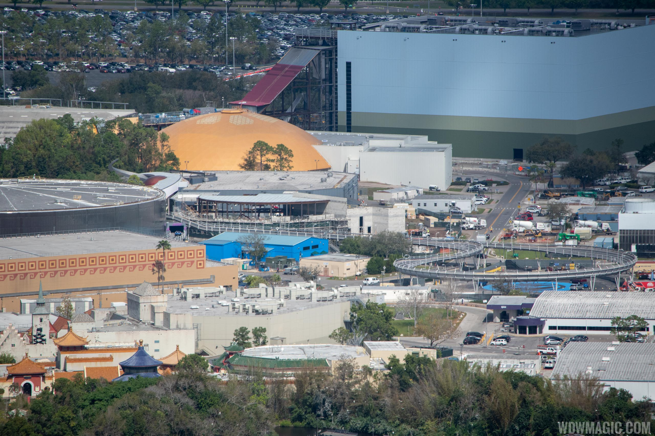Epcot Space Restaurant construction - February 2019