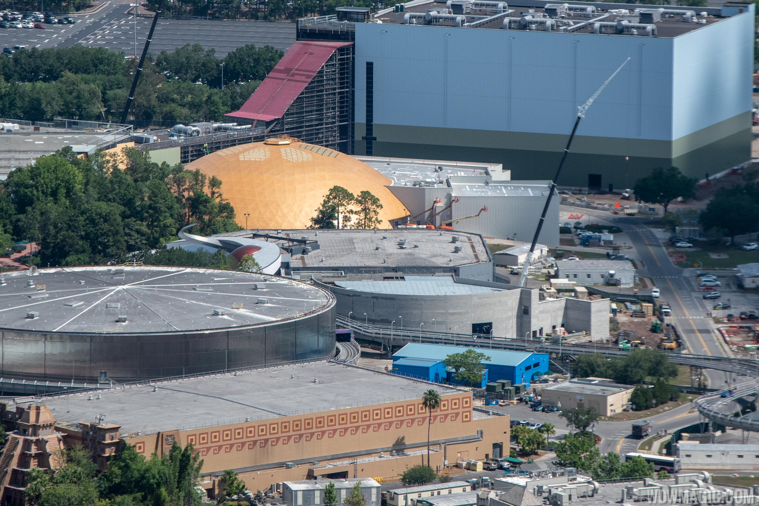 Epcot Space Restaurant construction - May 2019