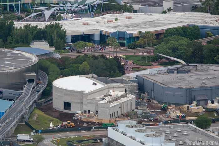 Epcot Space Restaurant construction - June 2019
