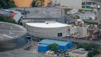 PHOTOS - Helicopter view of Epcot's upcoming Space themed restaurant