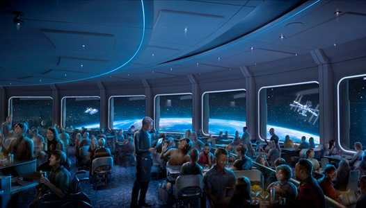Epcot's space-themed restaurant named Space 220