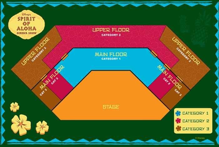 Spirit of Aloha seating plan