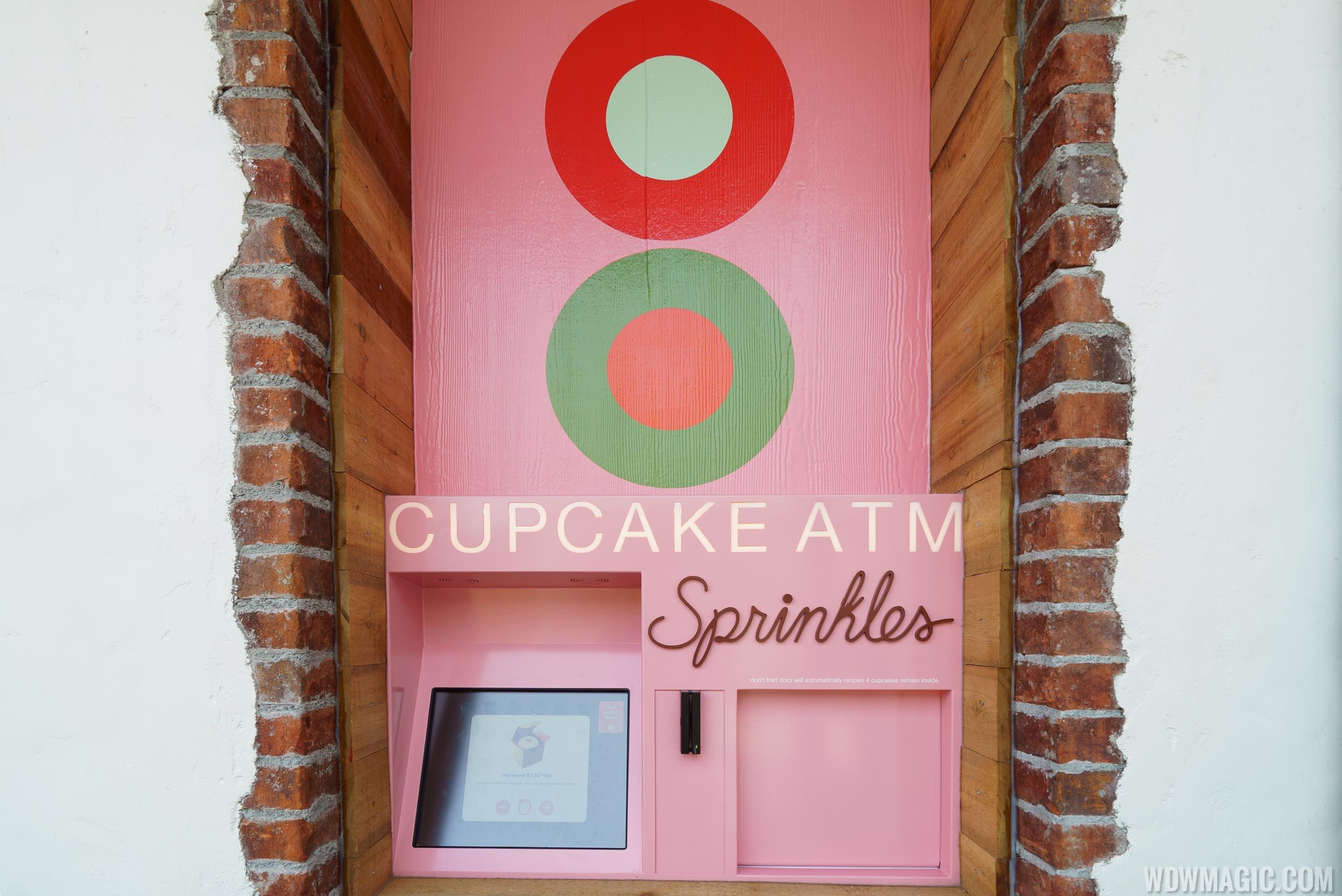 Cupcake ATM at Sprinkles in Disney Springs