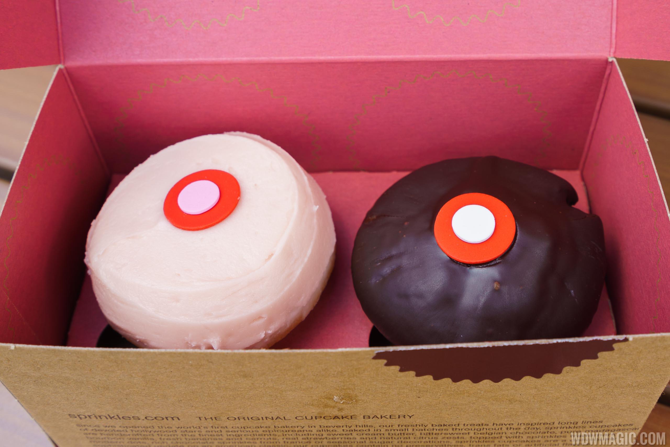Two Sprinkles cupcakes